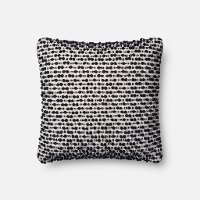 Magnolia Home Furniture White and Black Throw Pillow