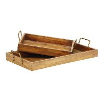 Magnolia Home Furniture Set of Wooden Breakfast Trays