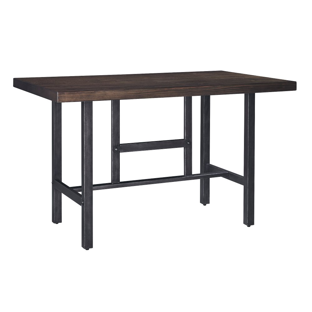 Counter Height Dining Table  Modern Kavara Medium Brown and Metal  Reclaimed Wood. Counter Height   Dining Tables   Dining Room   RC Willey