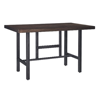 counter height dining table modern kavara medium brown and metal reclaimed wood