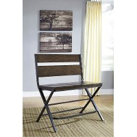 Kavara Medium Brown Metal and Reclaimed Wood Contemporary Counter Height Bench