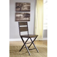 Reclaimed Wood and Metal Counter Height Stool - Kavara