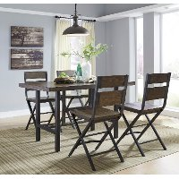 Reclaimed Wood and Metal 5 Piece Counter Height Dining Set - Kavara