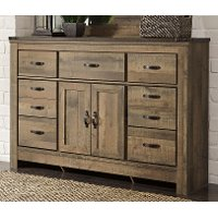 Contemporary Rustic Oak Dresser - Trinell