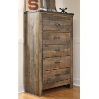 Contemporary Rustic Oak Chest of Drawers - Trinell
