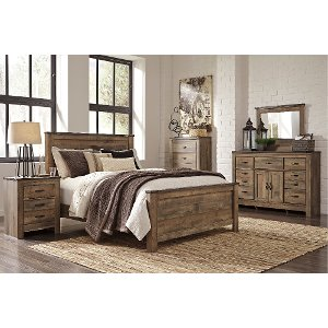 contemporary bedroom set.  Rustic Casual Contemporary 6 Piece Queen Bedroom Set Trinell Buy a queen bedroom set at RC Willey