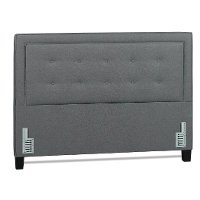 Heather Gray Classic Contemporary Upholstered Queen Size Headboard - Soraya Collection