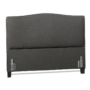 charcoal gray classic queen upholstered headboard selena