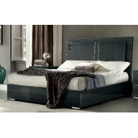 KJVR/PLATFORMBED5/0 Dark Gray Modern Queen Bed with Lights - Versilia