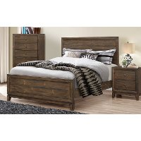 2017/PANELBED4/6 Antique Pine Full Size Bed - Arielle
