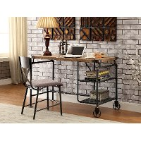 Wood & Metal Casual Industrial Desk - Alexander