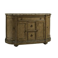 Pecan and Marble Sideboard - Touraine