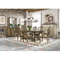 Classic Pecan 7 Piece Dining Set - Touraine