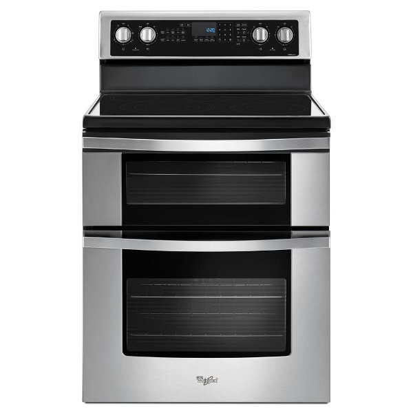WGE745C0FS Whirlpool 6.7 Cu. Ft. Double Oven Electric Range   Stainless  Steel