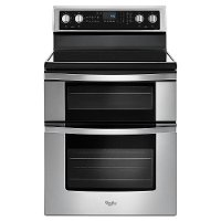 WGE745C0FS Whirlpool Double Oven Electric Range - 6.7 cu. ft. Stainless Steel