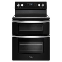 WGE745C0FE Whirlpool 6.7 Cu. Ft. Double Oven Electric Range - Black