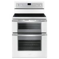 WGE745C0FH Whirlpool Double Oven Electric Range - 6.7 cu. ft. White