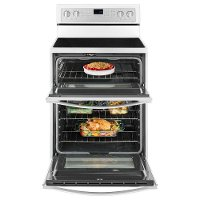 Whirlpool Double Oven Electric Range 67 Cu Ft White Rc Willey