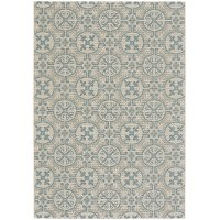 4 x 6 Small Spa Blue Indoor-Outdoor Rug - Finesse Tile