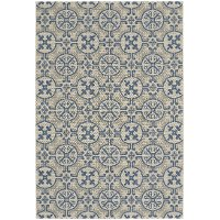 4 x 6 Small Capri Blue Indoor-Outdoor Rug - Finesse Tile