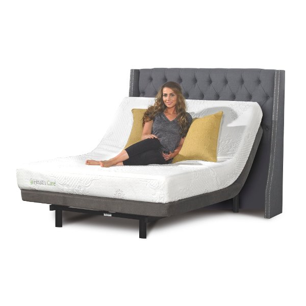 Memory Foam King Size Mattress With Adjule Bed