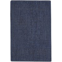 3 x 5 Small Flat Weave Denim Blue Rug - Montauk ll