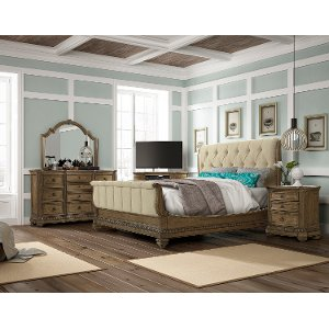 ... Pecan 6 Piece Cal King Bedroom Set   Touraine Collection ...