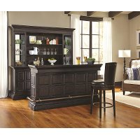 Burton Dark Brown Traditional Back Bar and Hutch