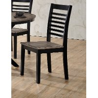 Ebony and Ash Contemporary Dining Chair - South Beach