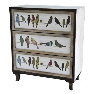 Drawer Bird On A Wire Painted Chest