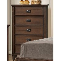 Classic Brown Chest of Drawers - Park City