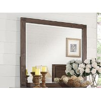 Rustic Contemporary Chocolate Brown Mirror - Dillon