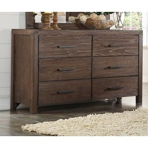 Rustic Contemporary Chocolate Brown Dresser
