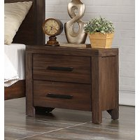 Rustic Contemporary Chocolate Brown Nightstand - Dillon