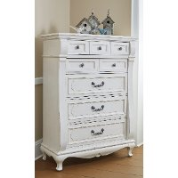 637-009/CHEST Antique White Traditional Chest of Drawers - Chateau Monaco