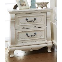 637-029/NIGHTSTAND Antique White Traditional Nightstand - Chateau Monaco