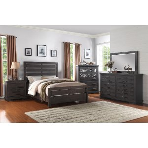 ... 6PC:8068/REVOLUTN6/6 Clearance Dark Gray Casual Contemporary 6 Piece King  Bedroom