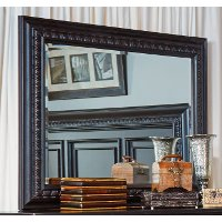 120-020/MIRROR Cabernet Black Traditional Mirror - Meritage