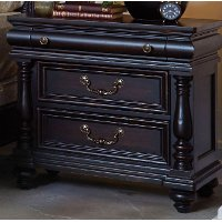 120-030/NIGHTSTAND Cabernet Black Traditional Nightstand - Meritage