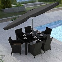 Black Tilting Patio Umbrella