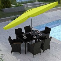Lime Green Tilting Patio Umbrella
