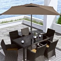 Sandy Brown Square Patio Umbrella