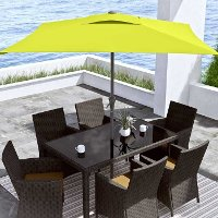 Lime Green Square Patio Umbrella