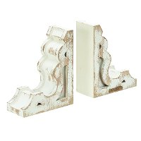 Magnolia Home Furniture Distressed White Bookend Pair
