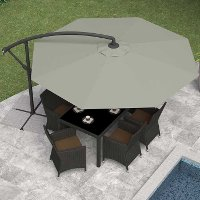 Sandy Gray Offset Patio Umbrella