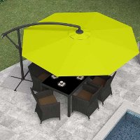 Lime Green Offset Patio Umbrella