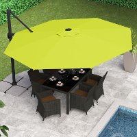 Lime Green Deluxe Offset Patio Umbrella