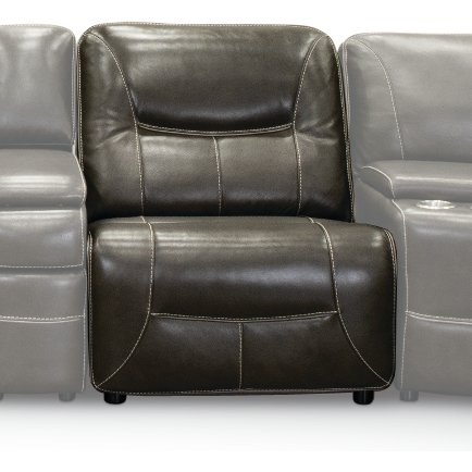 Steel Gray Armless Power Recliner - Max