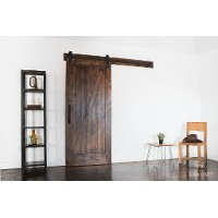 K1ZB3670SI7B1 Dark Brown 3.5' x 7' Traditional 'Z' Barn Door