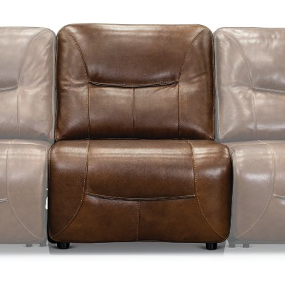 Bramble Brown Armless Power Recliner - Max
